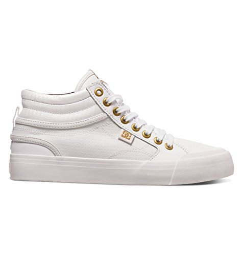 DC Shoes Evan Hi, Sneakers Basses Femme Blanc (Wg1)