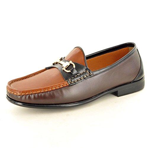 Black auf Look Herren Casual Brown Coffee Leder Mokassins Schuhe Loafer Slip FUqPaSw
