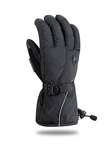Ski Gloves Snowboard Snowmobile Waterproof Windproof 3M Thinsulate Winter Warm Snow Gloves(L)