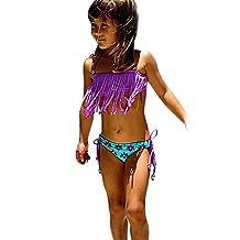 Winhurn Baby Swimwear, 2Pcs Kids Girl Tassels Swimsuit Bathing Bikini Set Summer