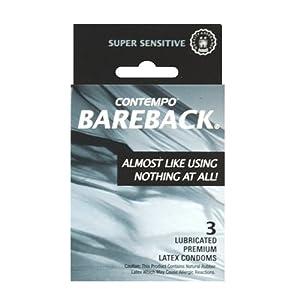 Contempo Bareback Condom, 3 Count