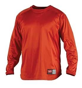 Rawlings Youth Dugout Fleece Pullover (Burnt Orange, Medium)