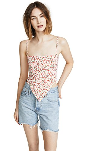 Cherry Pie Top Shirt - Flynn Skye Women's Jessie Crop Top, Sweet Cherry Pie, X-Small