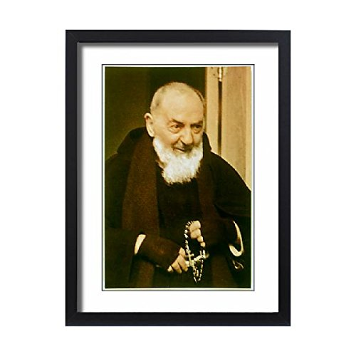 Framed 24x18 Print of PADRE PIO (579672) by Prints Prints Prints