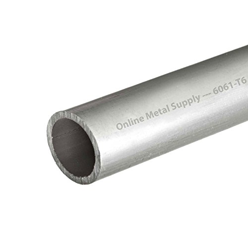 Online Metal Supply 6061-T6 Aluminum Round Tube, OD: 0.750 (3/4 inch), Wall: 0.035 inch, Length: 48 inches