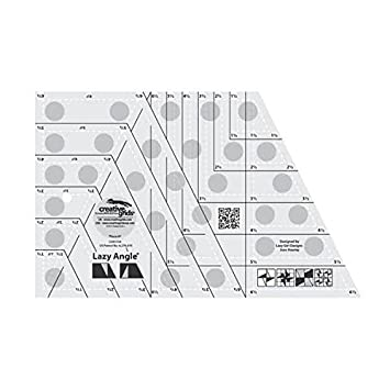 CGR3754 Creative Grids Lazy Angle Quilt Ruler