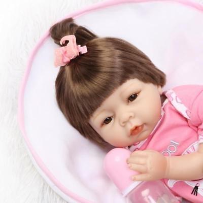 22'' Lifelike Newborn Babies Silicone Vinyl Reborn Baby Dolls Handmade Kids Gift