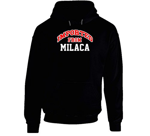 Milaca Minnesota Imported From Cool Funny City Hoodie 2XL Black