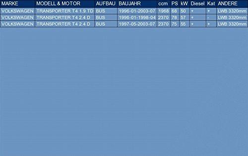 ETS-EXHAUST 5174 Auspuff Auspuffanlage f/ür TRANSPORTER T4 1.9 TD 2.4 D BUS 68//78//75hp 1996-2003