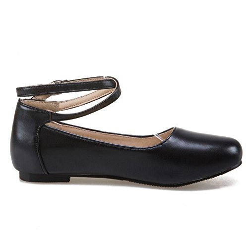 1 Sweet Women Flat Black Zanpa Shoes 1Pqcg