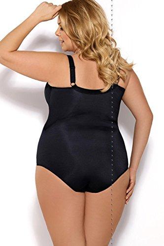 Gorsenia K356 Women's Gala Black Non-Padded Underwired Bodysuit Body 85C