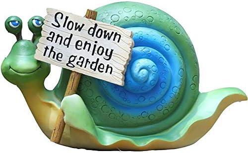 フラワーポット田園風景 多肉 植物 鉢 室内 小さなカタツムリのサインへようこそ庭の彫像庭のアクセサリーの装飾置物 DIY 飾り おしゃれ 多肉植物 寄せ植え 鉢 収納スタンドにも (色 : C1, Size : As shown)