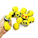 """Jofan 12 Piece Emoji Stress Balls 2.5"""" PU Emoji"""