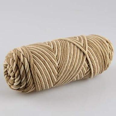 Hilo de algodón de Leche Suave Natural | Hilo Grueso para Tejer ...