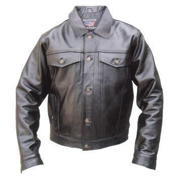 Amazon.com: Men's Black DENIM Style Premium BUFFALO Leather ...