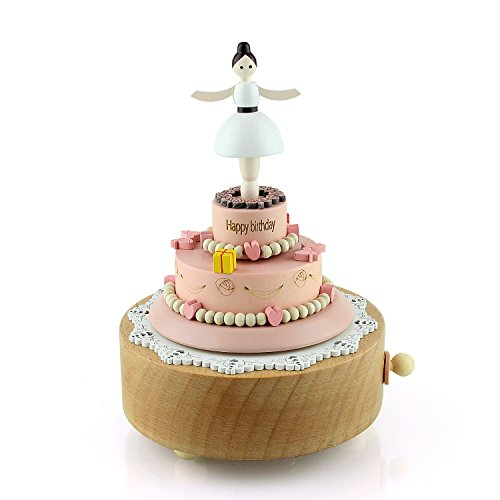 Takefuns Wooden Music Box, Musical Box Smart Castle Toy Decoration Birthday Present for Lover Friends and Children Plays HAPPY BIRTHDAY (Tender Music Box)