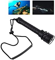 Diving Flashlight 8000LM Underwater 100m 3 x T6 LEDScuba Dive Lights Dive Torch with Hand Strap