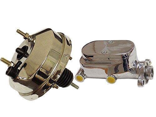 "8"" Single Diaphragm Universal Chrome Brake Booster and GM Chrome Aluminum Brake Master Cylinder"