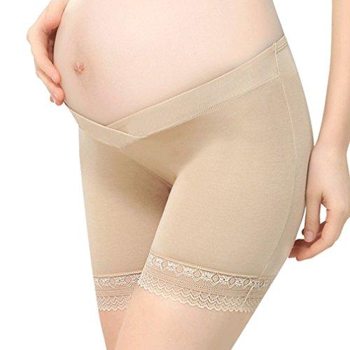 maternità donna di pantaloni morbidi rosa sicurezza Juleya da donna Biancheria di Pantaloni incinta Skin Leggings incinta intima per Brevi Pantaloni da donna Pantaloncini aHqqwt