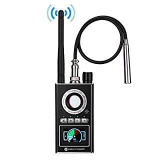 FirstPower Anti Spy RF Detector, Hidden Camera Bug Detector, Upgraded Wireless Signal Laser Lens GSM and GPS Tracker Eavesdropping Device Finde