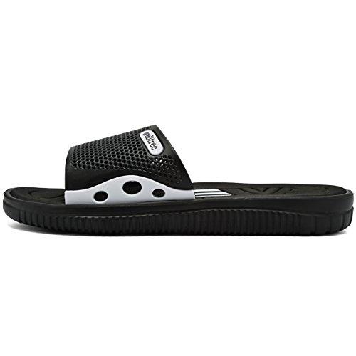 welltree Men's Slide Slipper Shower/Pool / Beach/Garden Quick Drying Sandal 7 D(M) US Men / 40 Black by welltree (Image #7)