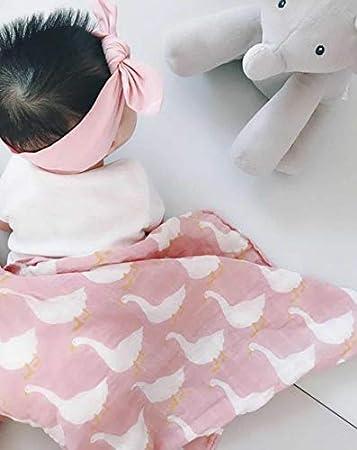 Hpybest Baby-Decken f/ür Neugeborene Schal Musselin Babysachen weiche Bio-Baumwolle Spucktuch Wickeltuch