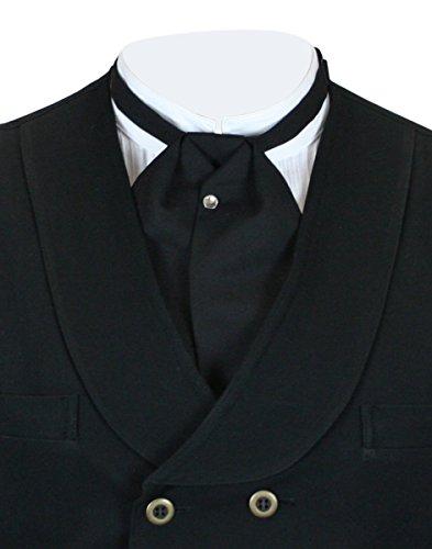 Historical Emporium Men's Solid Puff Tie Matte (Edwardian Halloween Butler)