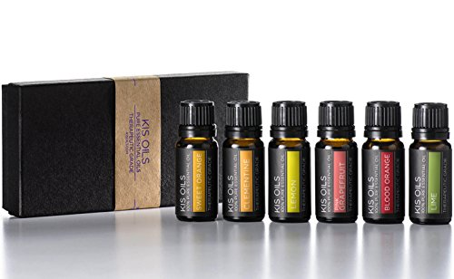 Aromatherapy Top 6 100% Pure Therapeutic Grade Basic Sampler Essential Oil Gift Basic sampler essential oil gift set 6-10ML (Sweet Orange, Clementine, Lemon, Pink Grapefruit, Blood Orange, Lime)