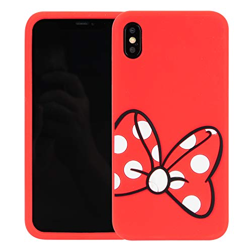 Case for iPhone XR 6.1 inch,Phenix-Color 3D Cute Cartoon Soft Silicone Stitch Hello Kitty Love Bear Gel Back Cover Case for iPhone XR 6.1 inch (#46)