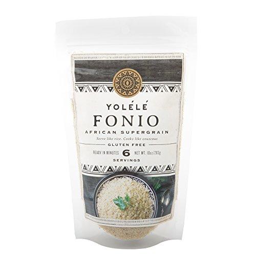 Yolélé Fonio - High Protein - Gluten-Free - Fast Cooking - Vegan - African Ancient Grain - Premium Quality - 3 x 10oz (30oz)