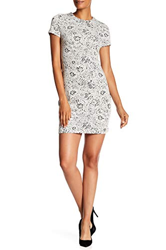 Calvin Klein Ivory Womens Floral Knit Jacquard Sheath Dress