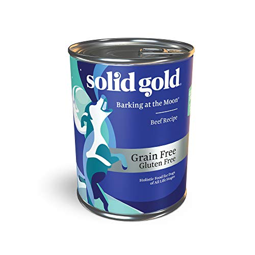 (Solid Gold High Protein Wet Dog Food; Barking At The Moon Grain Free With Real Beef; 12Ct/13.2Oz Can)