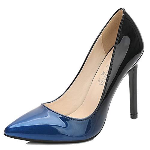 43 a EU con de HiTime Mujer cu Color Sandalias Charol Azul Talla vUqwPtZw