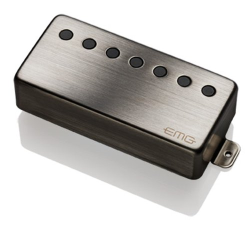 EMG 66-N Active Humbucker Neck Guitar Pickup, Brushed Chrome ()