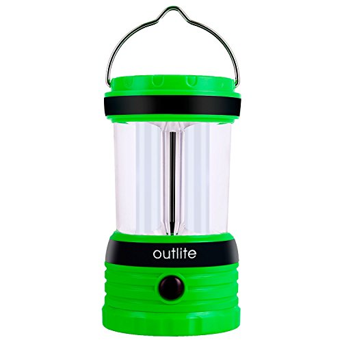 Outlite 240 Lumen Solar Rechargeable LED Camping Lantern Flashlight, Portable Water Resistant Outdoor Survival Lamp for Hiking Fishing Emergency Outages