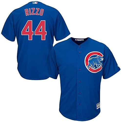 Majestic Anthony Rizzo Chicago Cubs Kids Cool Base Alternate Blue Replica Jersey Medium 5-6