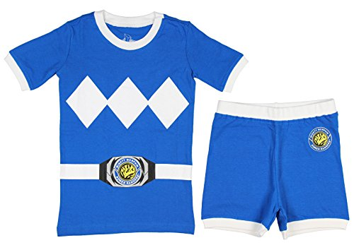 Power Rangers Cotton Costume Pajama Short Set, Blue, -