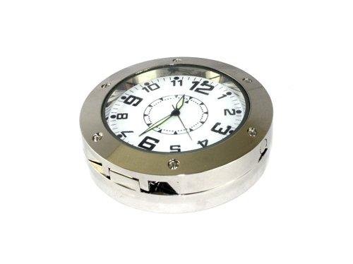 Visua Horloge Spy Covert Cam/éra vid/éo//DVR avec d/étection de Mouvement Finition