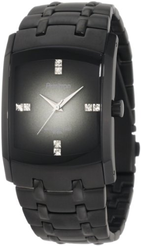Armitron Men's 204507DGTI Swarovski Crystal Accented Black Ion-Plated Stainless Steel Watch (Crystal Accents Black)