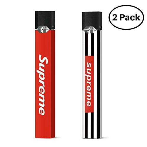 2 Pack Juul Skin (Wrap Only) Protective Sticker Decal (Supreme Combo)