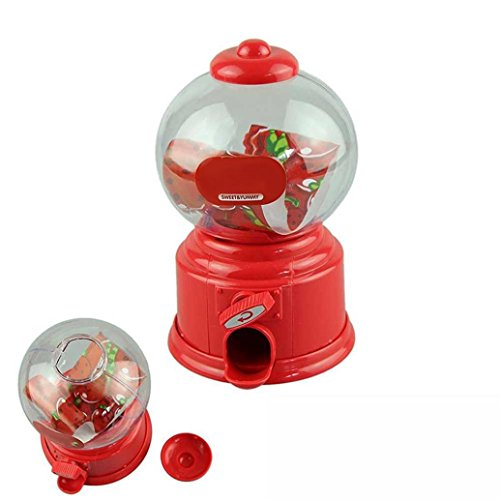 (Inverlee Classic Vintage Dubble Bubble Gum Machine Bank Candy Dispenser Gumball Bank Toys Xmas Gift for Children)