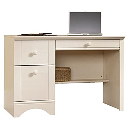 Pinellas Rectangular Writing desk with 3 Drawers Manufactured Wood in Antique  White Finish 28.98'' - Amazon.com: Pinellas Rectangular Writing Desk With 3 Drawers