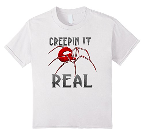 Kids Creepin It Real Spider Shirt Kids Men Women Costume TShirt 10 White