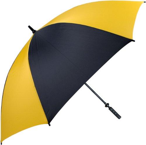 "Haas-Jordan Pro-LineGolf Umbrella | 62"" Large Windproof Canopy | Full Flexible Fiberglass Construction, Lightweight & Waterproof | Oversized Umbrellas | Black/Gold - Golf Umbrella Lightweight Fiberglass"
