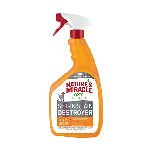 Nature's Miracle Set-In Stain Destroyer Dog 32 Ounces, Oxy Formula With Orange Scent