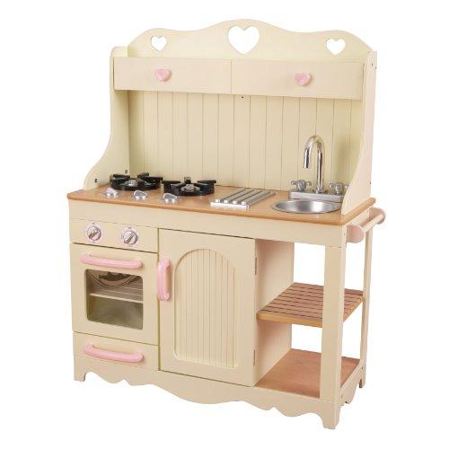KidKraft 53151 Prairie Wooden Pretend Play Toy Kitchen for Kids