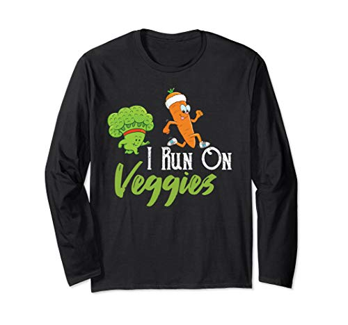 I run on veggies funny carrot workout novelty  Long Sleeve T-Shirt -