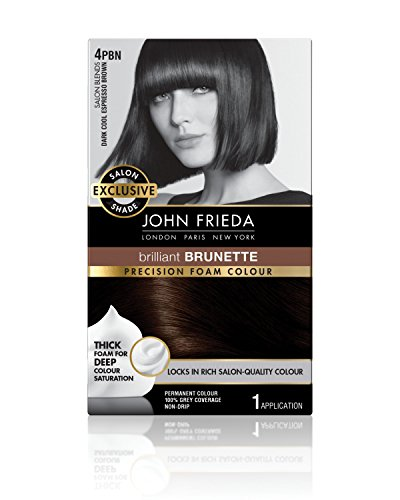 John Frieda Precision Foam Permanent Hair Colour in 4PBN Dark Cool Espresso ()