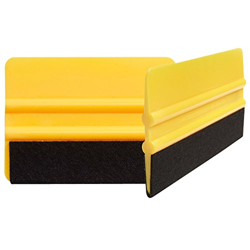 Felt tipped squeegee 2PACK. Automotive squeegee for vyinal roll and carbon fiber vinyl, fibra de carbono 3M, vinal wrap for cars, vvivid vinyl. Apply xpel paint protection film & window tint.