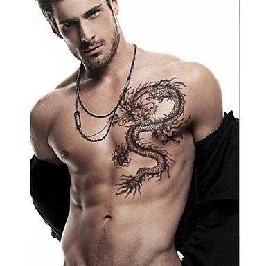 Loong dragón chino Pegatinas tatuaje Tatuajes temporales: Amazon ...